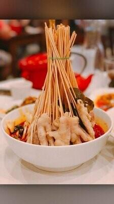 ZWCD【滋味成都】❄红油钵钵鸡 Red Chili Chicken and Mixed Vegetable Skewer  (外卖不提供竹签,晚餐不配饭)