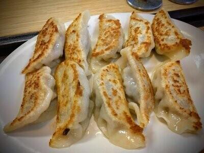 WJX【味佳香】三鲜锅贴 Pan Fried Combination Dumplings (10 pcs)(每周一休息)