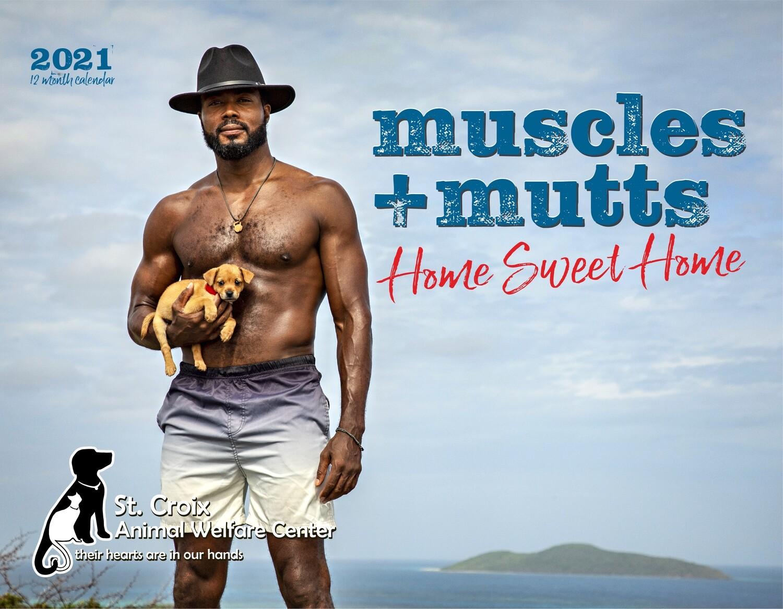2021 Muscles & Mutts Wall Calendar