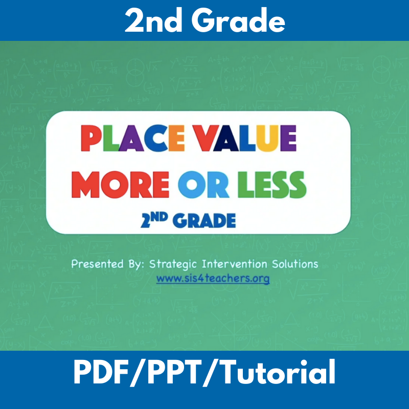 Place Value More or Less: 2nd Grade