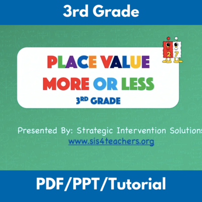 Place Value More or Less: 3rd Grade