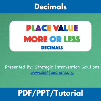Place Value More or Less: Decimals