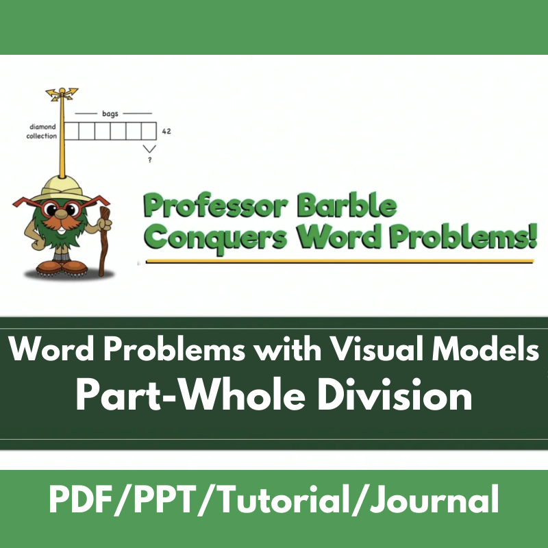 Word Problems with Visual Models: Part-Whole Division