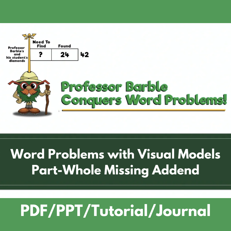 Word Problems with Visual Models: Part-Whole Missing Addend