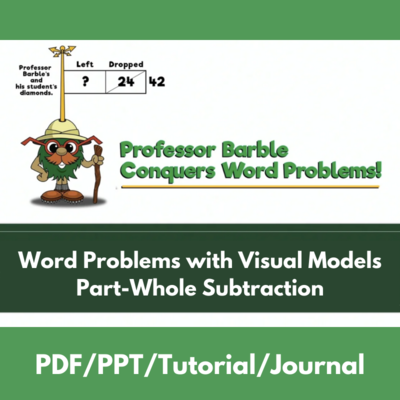 Word Problems with Visual Models: Part-Whole Subtraction