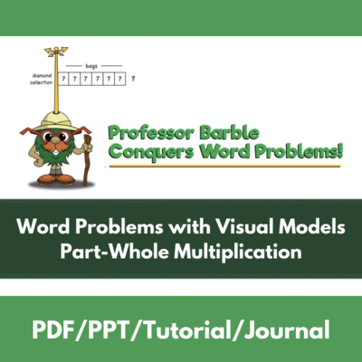 Word Problems with Visual Models: Part-Whole Multiplication