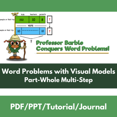 Word Problems with Visual Models: Part-Whole Multi-Step