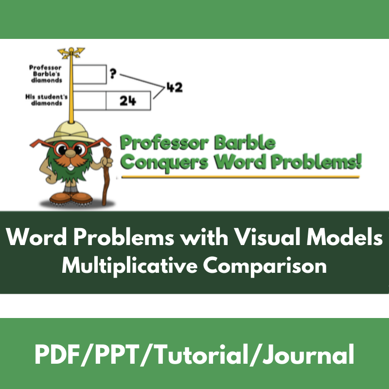 Word Problems with Visual Models: Multiplicative Comparison