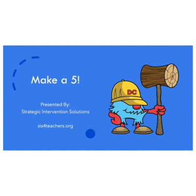 Make a 5 (Numeracy Game)