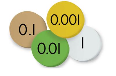 Place Value Decimal Discs(1-.001)