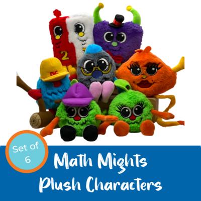 Math Mights Plush Characters (set of 6)