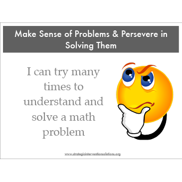 Kid-Friendly 8 Mathematical Practice Posters