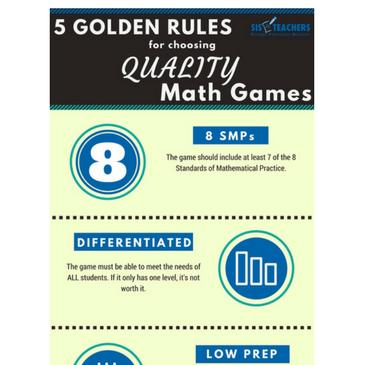 Quality vs. Quantity Math Games Infographic
