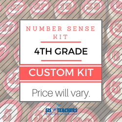 4th Grade Number Sense Kit - Custom