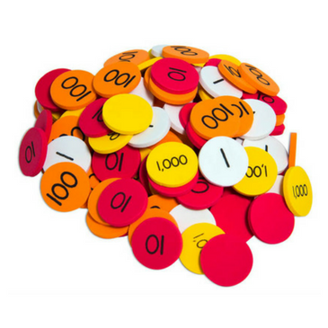 Place Value Whole Number Discs (1-1000)