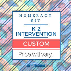 K-2 Intervention Number Sense Kit - CUSTOM