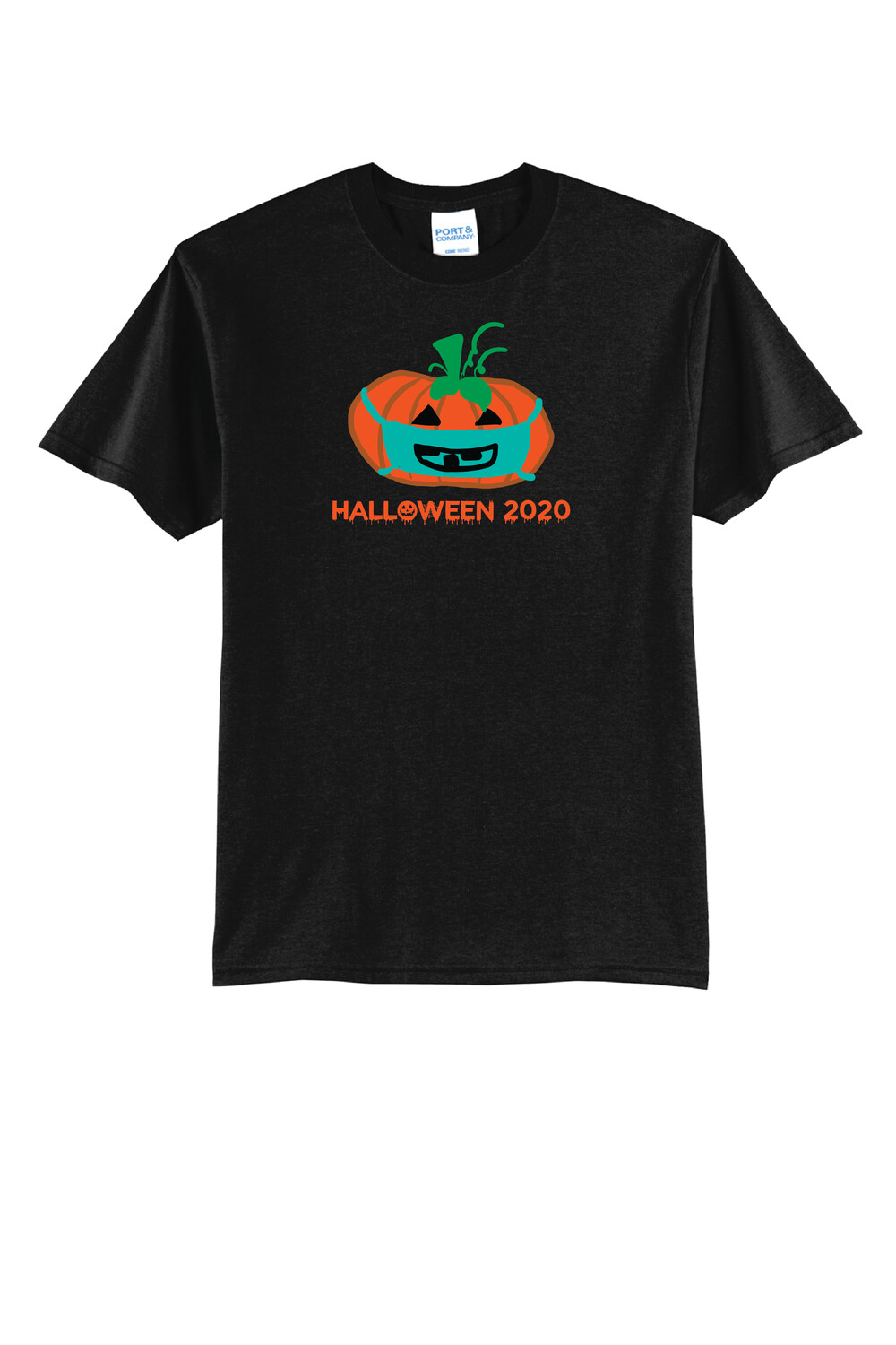 Port & Company® Core Blend Tee w/ PUMPKIN DESIGN