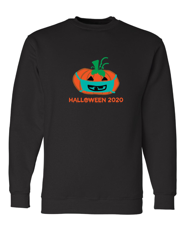 USA-Made Crewneck Sweatshirt w/ PUMPKIN DESIGN
