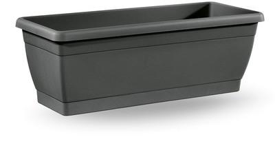Balconetta liscia con sottovaso da 40 cm in plastica