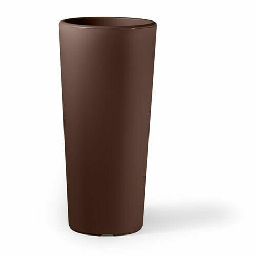 Vaso Tondo Clou moderno h 65, 85 cm con interno estraibile in plastica