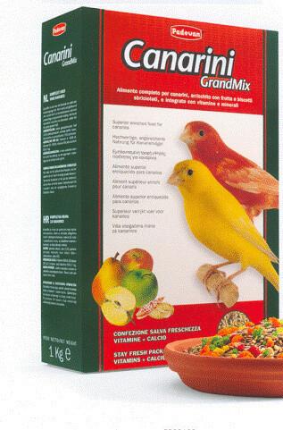 Mangime Padovan Grandmix Canarini 12 confezioni da 1 kg (12 kg)