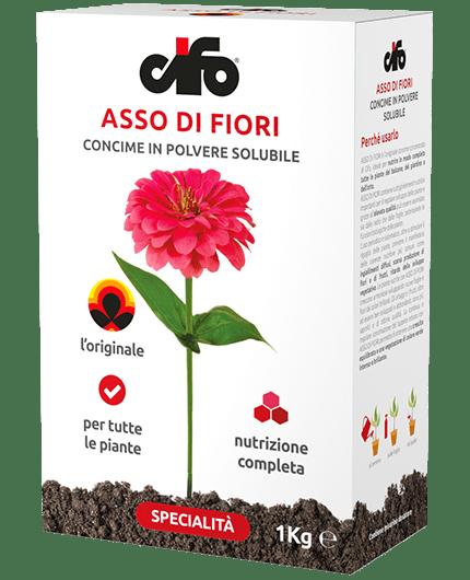 ASSO DI FIORI CIFO CONCIME IN POLVERE SOLUBILE NPK 20.20.20 FERTILIZZANTE 1 KG