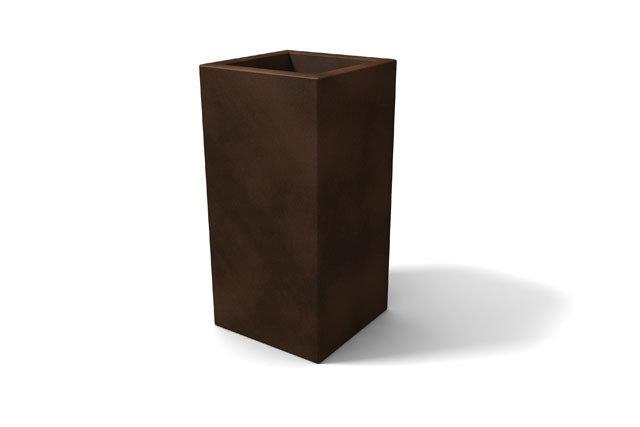 Vaso Cubo Tevere 45 x 45 x h 90 in resina
