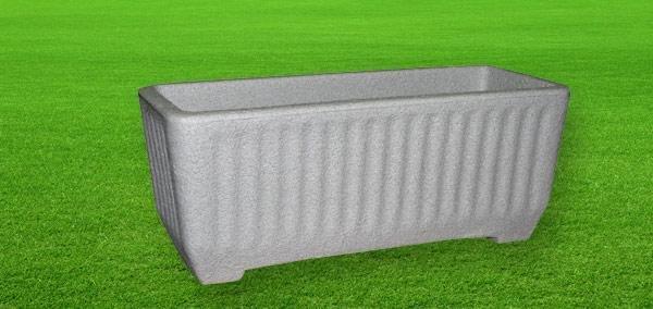 Cassetta Balaton color pietra cemento 58, 78, 98 cm in resina