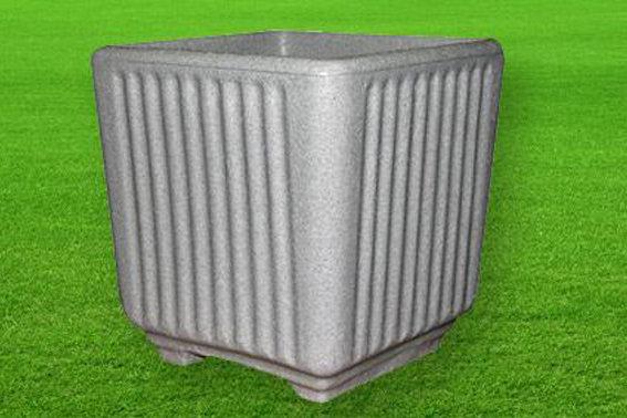 Quadrato Caspio color pietra cemento da 38x38xh38/ 50x50xh45 cm in resina