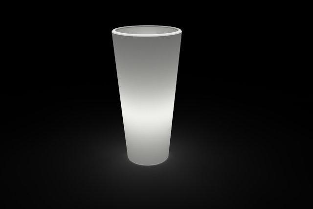 Vaso Tondo Livenza Luminoso BATTERIA LED RGB MULTICOLOR 45 x h 90 cm in resina