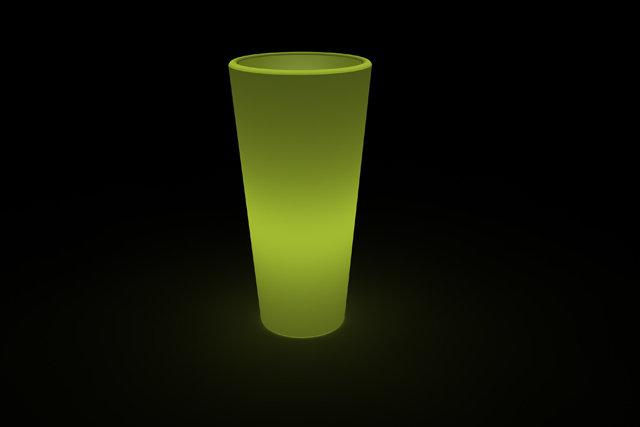Vaso Tondo Livenza Luminoso 45 x h 90 cm in resina