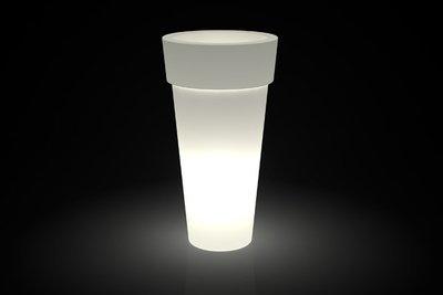 Vaso Tondo bordato Arno luminoso h 130, 160 cm in resina