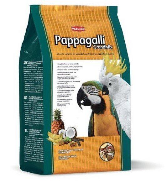 Mangime Padovan Grandmix pappagalli grossa taglia 5 confezioni da 2 kg (10 kg)