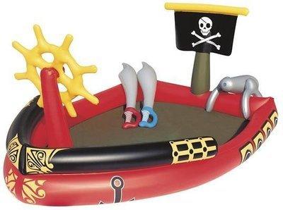 Playground piscina gonfiabile Pirati 191x140x h 97 cm con cannone e giochi