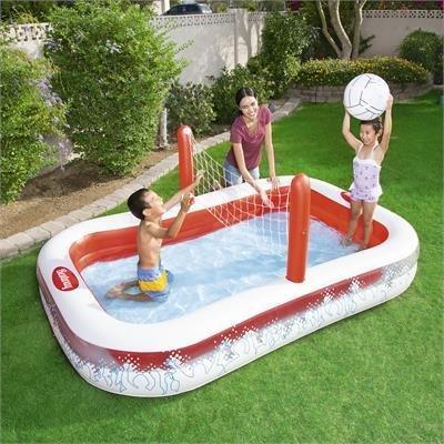 Playground piscina gonfiabile Pallavolo con la rete 254x168x h 97 cm