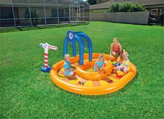 Playground piscina gonfiabile Trenino 285x167x h 119 cm con giochi