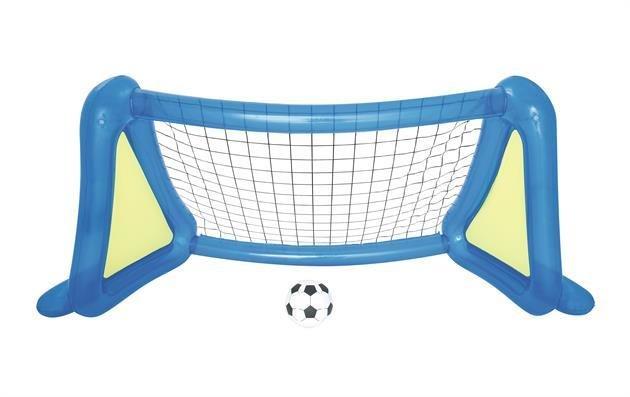 Porta calcio gonfiabile Bestway 254 x 112 x 130 cm con pallone e spruzzi