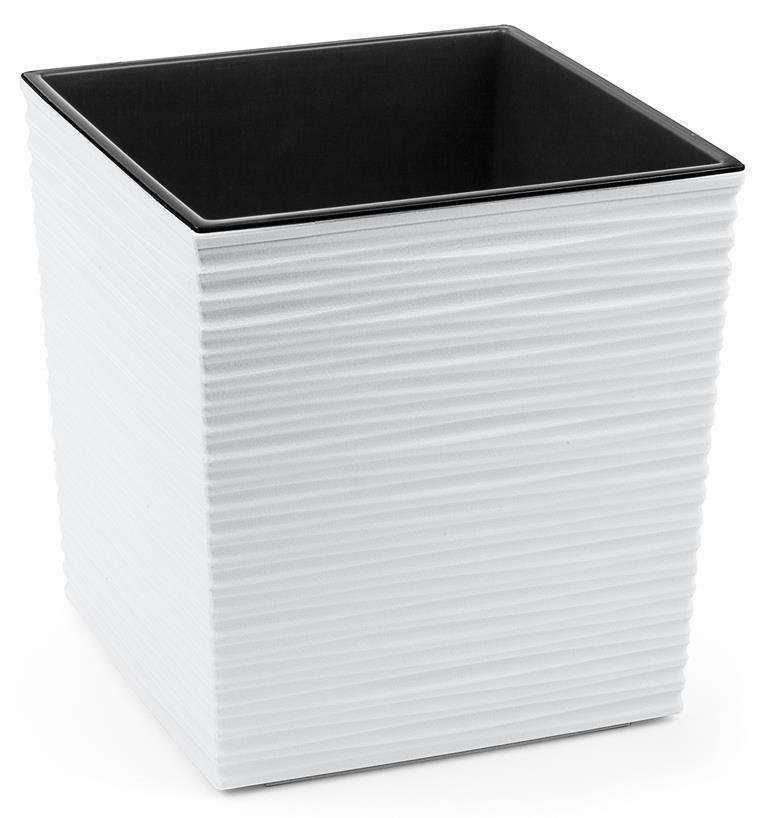 Portavaso vaso Cubo JUKA rigato 40 x 40 x h 41,5 cm