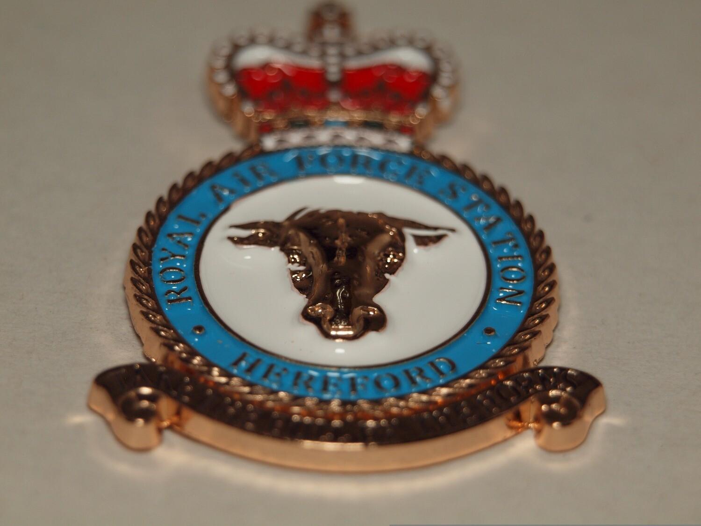 RAF Hereford Pin Badge Brand New Beautiful Military Enamel Pin Badge Veteran and Serving Royal Air Force Lapel pin Remembrance Day