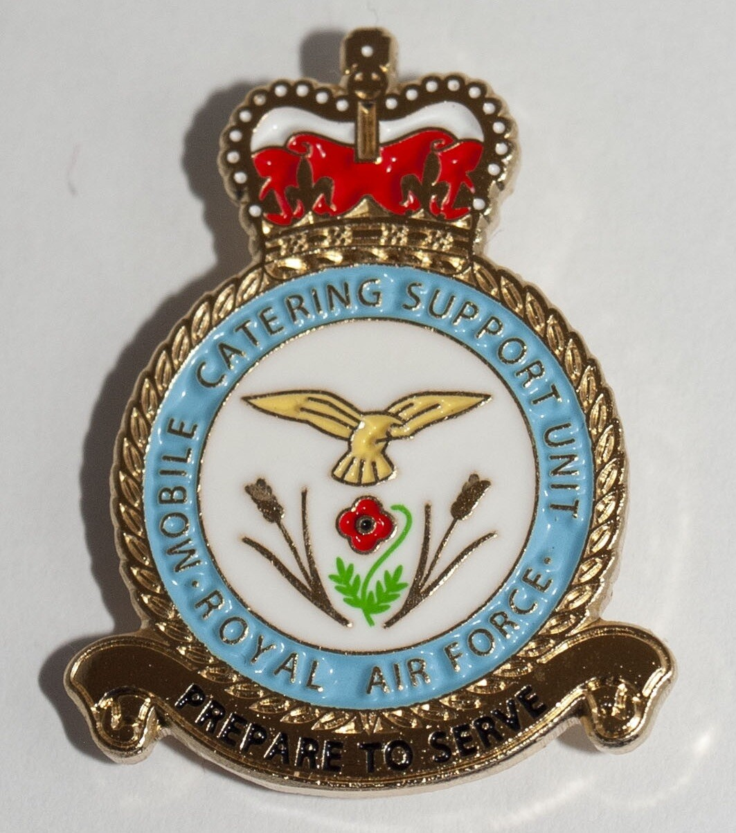 Brand New Beautiful Military Enamel Pin Badge veteran Royal Air Force Mobile Catering  Support Unit Lapel pin  Remembrance Day (as Approved By Barry Higgs)