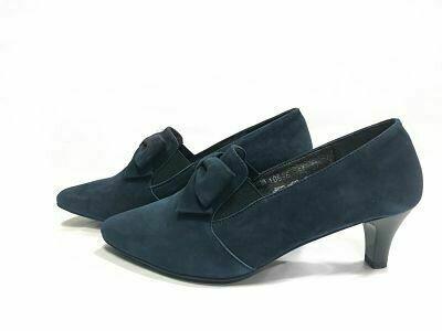 Teget ženske kožne cipele model 10536