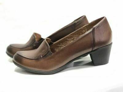 Braon ženske kožne cipele model 10504