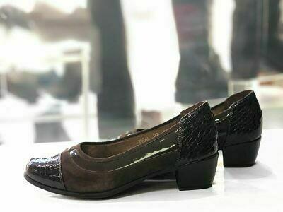 Braon ženske kožne cipele model 2552