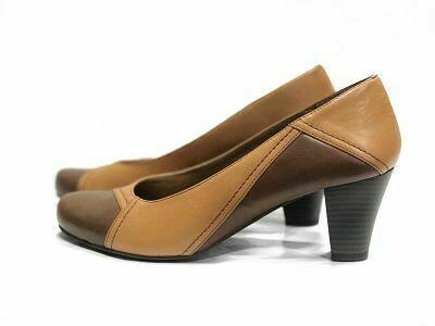 Braon ženske kožne cipele model 1950