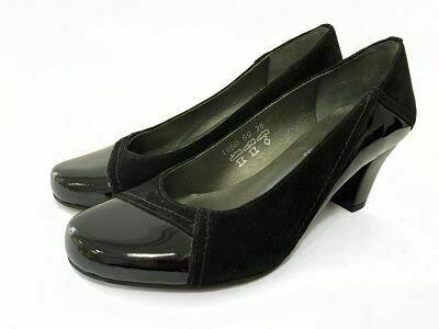 Crne kožne ženske cipele  model 1950