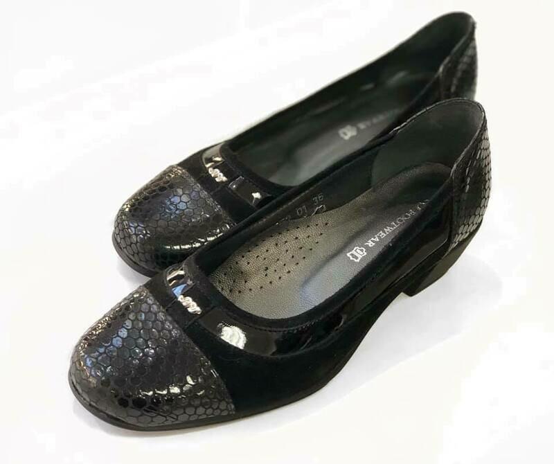 Crne ženske kožne cipele model 2552