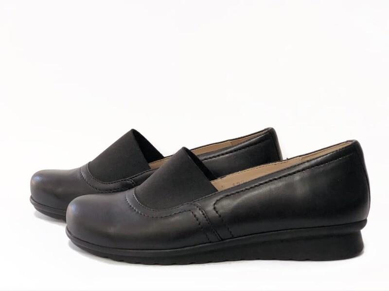 Plitke kožne crne cipele Model 12894