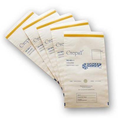 Пакеты из белой влагопрочной бумаги самоклеящиеся