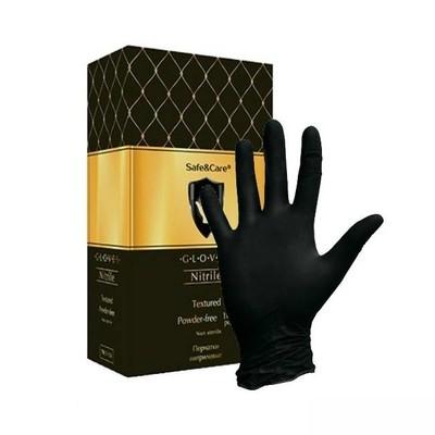 Черные нитриловые перчатки SAFE&CARE (100 шт) Малайзия