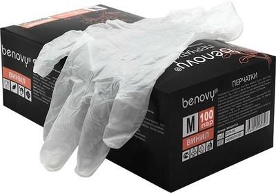 Виниловые перчатки BENOVY (200шт)